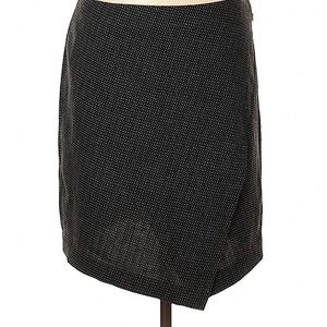 Loft Black and White Faux Wrap Skirt NWT